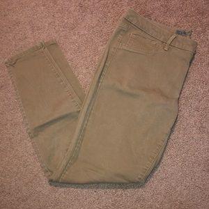 Full length skinny khakis